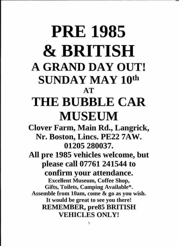 Group meet at the Bubble Car Museum May 2015